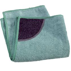 green kitchen cleaning cloth with scrubbing pocket