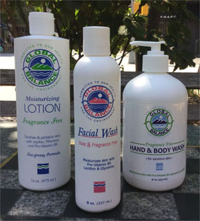 image of 3 bottles of Global Balance Unscented products