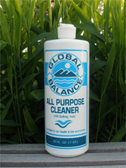 32 oz. bottle of all-purpose liquid cleaner with squirt cap set on a green leafy background